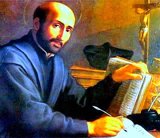 St. Ignatius at Desk